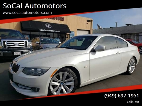 2012 BMW 3 Series for sale at SoCal Automotors in Costa Mesa CA