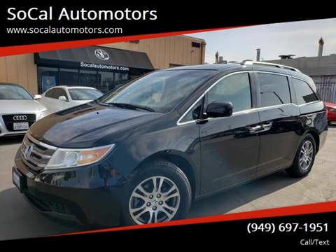 2012 Honda Odyssey for sale at SoCal Automotors in Costa Mesa CA