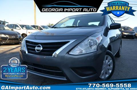 2017 Nissan Versa for sale in Alpharetta, GA