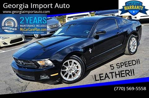 2010 Ford Mustang for sale at Georgia Import Auto in Alpharetta GA