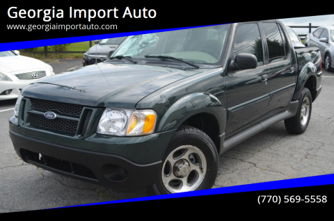 2004 Ford Explorer Sport Trac for sale at Georgia Import Auto in Alpharetta GA