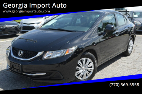 2013 Honda Civic for sale at Georgia Import Auto in Alpharetta GA