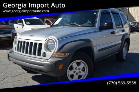 2005 Jeep Liberty for sale at Georgia Import Auto in Alpharetta GA
