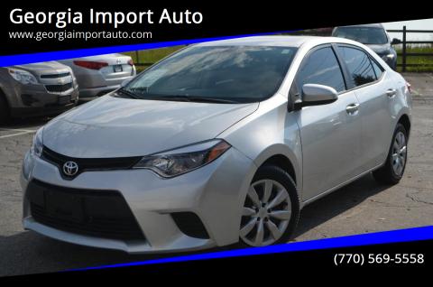 2014 Toyota Corolla for sale at Georgia Import Auto in Alpharetta GA