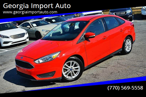 2015 Ford Focus for sale at Georgia Import Auto in Alpharetta GA
