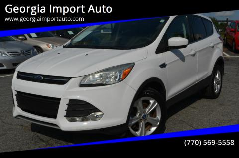 2013 Ford Escape for sale at Georgia Import Auto in Alpharetta GA