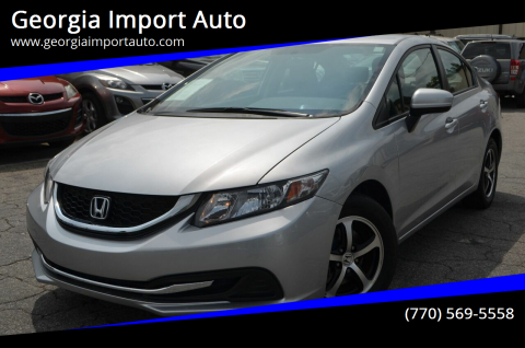 2015 Honda Civic for sale at Georgia Import Auto in Alpharetta GA