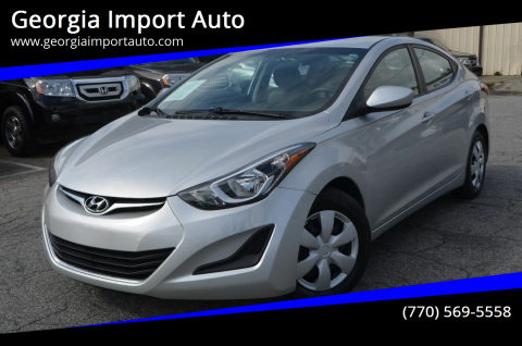 2016 Hyundai Elantra for sale at Georgia Import Auto in Alpharetta GA