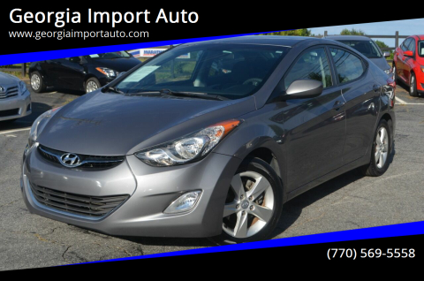 2012 Hyundai Elantra for sale at Georgia Import Auto in Alpharetta GA
