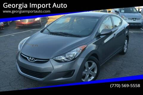 2013 Hyundai Elantra for sale at Georgia Import Auto in Alpharetta GA