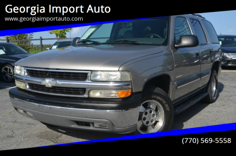 2003 Chevrolet Tahoe for sale at Georgia Import Auto in Alpharetta GA