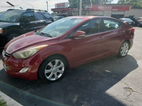 2012 Hyundai Elantra for sale at Right Place Auto Sales in Indianapolis IN