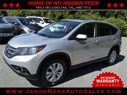 2013 Honda CR-V for sale at Jason Ross Auto Sales in Burlington NC