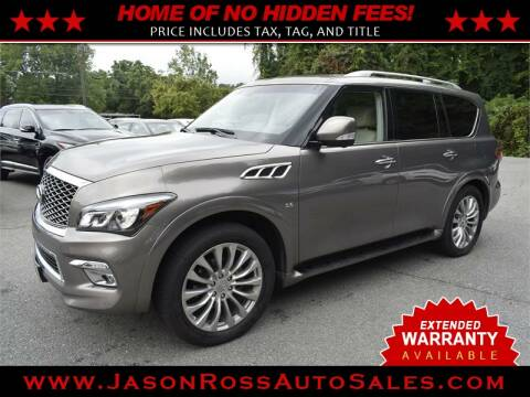 2016 Infiniti QX80 for sale at Jason Ross Auto Sales in Burlington NC