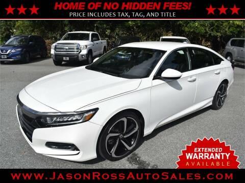2018 Honda Accord for sale at Jason Ross Auto Sales in Burlington NC