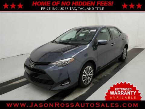 2017 Toyota Corolla for sale at Jason Ross Auto Sales in Burlington NC