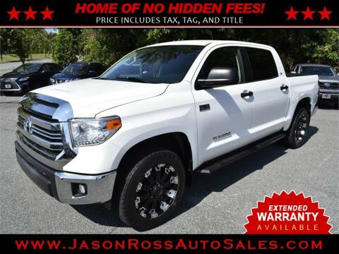 2017 Toyota Tundra for sale at Jason Ross Auto Sales in Burlington NC