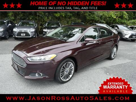 2013 Ford Fusion for sale at Jason Ross Auto Sales in Burlington NC
