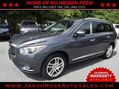 2013 Infiniti JX35 for sale at Jason Ross Auto Sales in Burlington NC