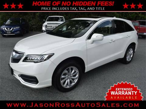 2018 Acura RDX for sale at Jason Ross Auto Sales in Burlington NC