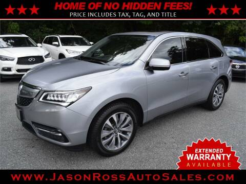 2016 Acura MDX for sale at Jason Ross Auto Sales in Burlington NC