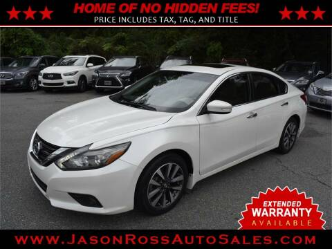 2017 Nissan Altima for sale at Jason Ross Auto Sales in Burlington NC