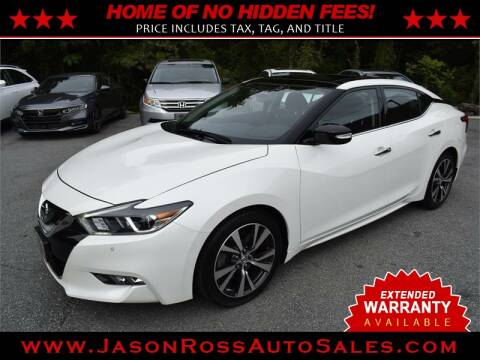 2017 Nissan Maxima for sale at Jason Ross Auto Sales in Burlington NC