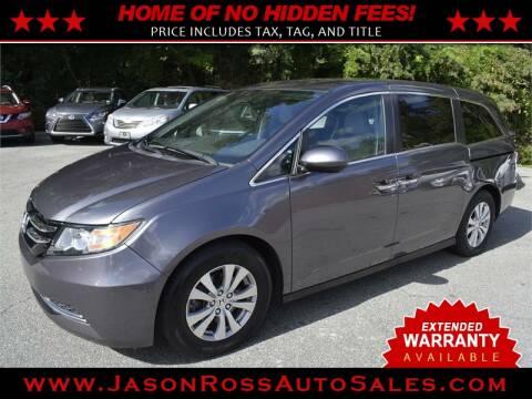 2016 Honda Odyssey for sale at Jason Ross Auto Sales in Burlington NC