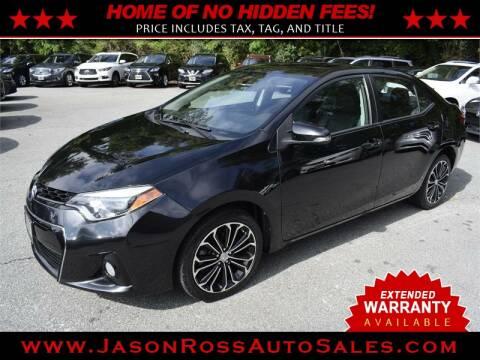 2015 Toyota Corolla for sale at Jason Ross Auto Sales in Burlington NC