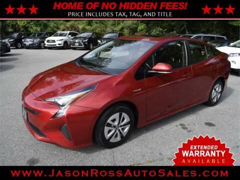 2016 Toyota Prius for sale at Jason Ross Auto Sales in Burlington NC