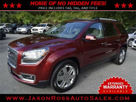 2017 GMC Acadia Limited for sale at Jason Ross Auto Sales in Burlington NC