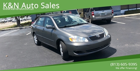 2006 Toyota Corolla for sale at K&N Auto Sales in Tampa FL