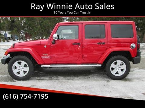 2012 Jeep Wrangler Unlimited for sale in Greenville, MI