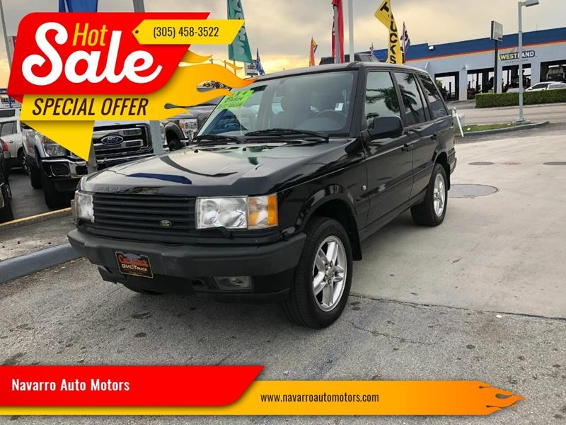 2000 Land Rover Range Rover for sale at Navarro Auto Motors in Hialeah FL