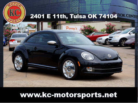 2013 Volkswagen Beetle for sale at KC MOTORSPORTS in Tulsa OK
