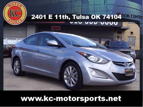 2016 Hyundai Elantra for sale at KC MOTORSPORTS in Tulsa OK