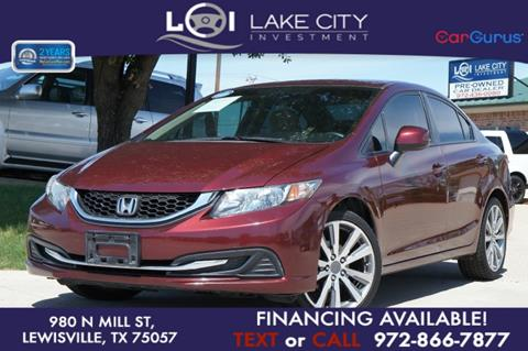 2013 Honda Civic for sale in Lewisville, TX