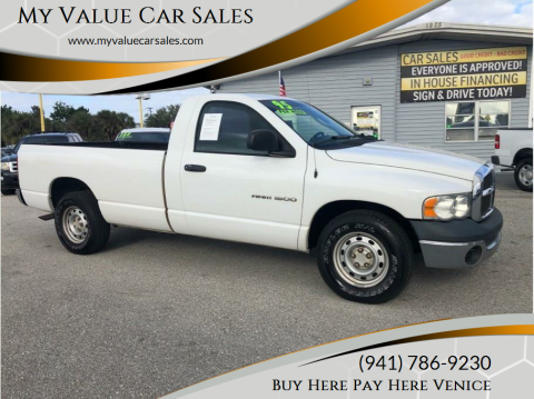 2005 Dodge Ram Pickup 1500 for sale at My Value Car Sales - Upcoming Cars in Venice FL