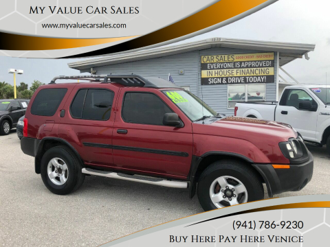 2004 Nissan Xterra for sale at My Value Car Sales - Upcoming Cars in Venice FL