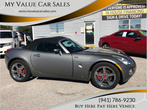 2007 Pontiac Solstice for sale at My Value Car Sales - Upcoming Cars in Venice FL
