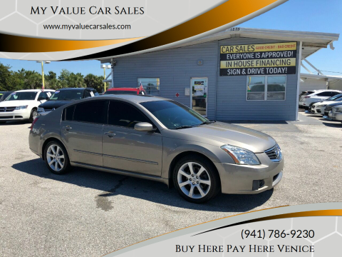 2007 Nissan Maxima for sale at My Value Car Sales - Upcoming Cars in Venice FL