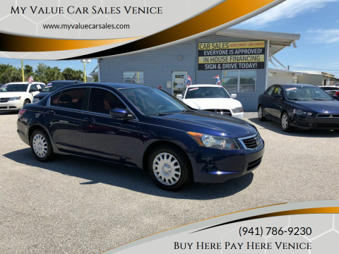 2009 Honda Accord for sale at My Value Car Sales in Venice FL
