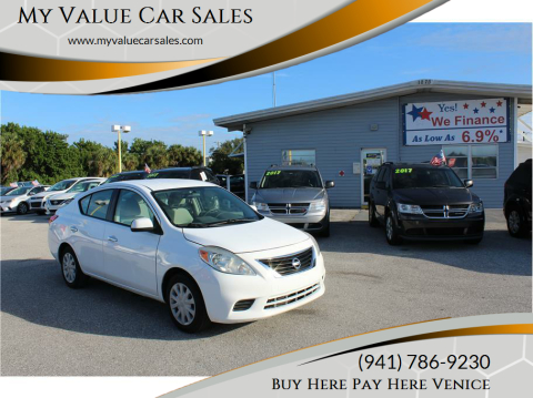 2012 Nissan Versa for sale at My Value Car Sales - Upcoming Cars in Venice FL