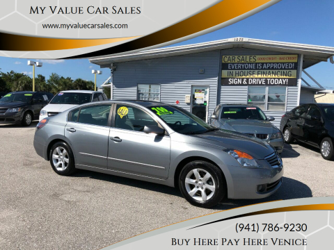 2008 Nissan Altima for sale at My Value Car Sales - Upcoming Cars in Venice FL