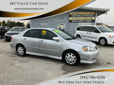 2007 Toyota Corolla for sale at My Value Car Sales in Venice FL