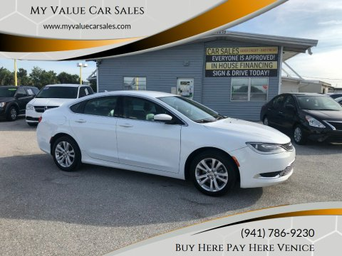 2016 Chrysler 200 for sale at My Value Car Sales - Upcoming Cars in Venice FL
