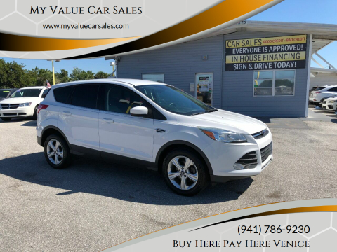 2016 Ford Escape for sale at My Value Car Sales in Venice FL