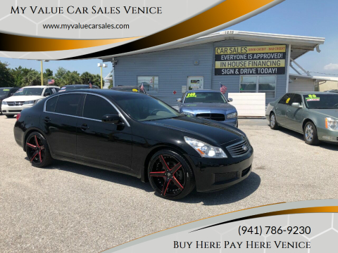 2008 Infiniti G35 for sale at My Value Car Sales - Upcoming Cars in Venice FL