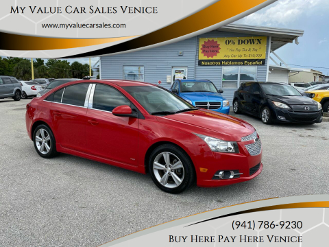 2013 Chevrolet Cruze for sale at My Value Car Sales - Upcoming Cars in Venice FL