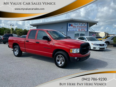 2003 Dodge Ram Pickup 1500 for sale at My Value Car Sales - Upcoming Cars in Venice FL